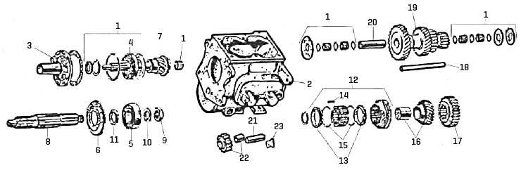Omix-Ada 18804.01 Manual Transmission Seal Kit