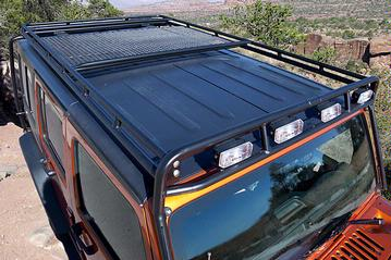 Ead offroad gobi jeep jk roof rack systems jeep wrangler forum the 4 place stealth light bar accommodates 25 x 6 rectangular off road lights custom racks can be ordered to fit 20 40 led lights aloadofball Gallery