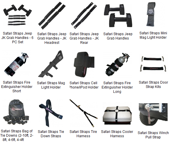Cargo Nets And Safari Straps For Jeep Wrangler Jk And Jk