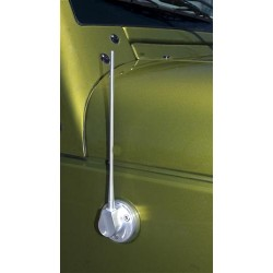 "Drake Off Road Jeep JK 07-Up 8"" Aluminum Antenna Brushed"