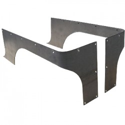 GenRight Jeep TJ, YJ, CJ7 COMP Cut Corner Guards (Steel or Aluminum)