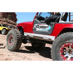 GenRight Jeep Aluminium Mini Boat Side Rocker Guard Set w/Bars