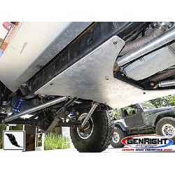 GenRight Jeep JK 2Dr 07-Up Aluminum Belly Up Skid 3/8""