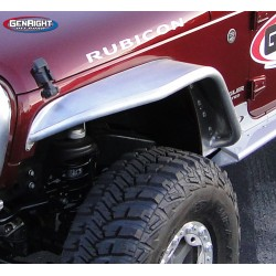 "GenRight Jeep JK 07-Up Front 4"" Wide Tube Flare - Aluminum"