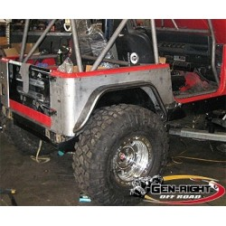 "GenRight Jeep TJ/LJ, YJ, CJ 4"" or 6"" Rear Std Flares (Steel or Alum)"