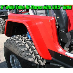"GenRight Jeep TJ/LJ, YJ, CJ 4"" Hi-Fender Rear (Steel or Alum)"