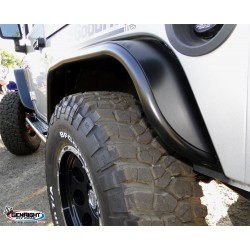"GenRight Jeep JK 07-Up Rear 4"" Wide Tube Flare - Steel"