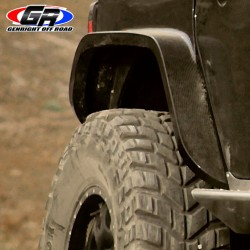 "GenRight Jeep JK 07-Up Rear 4"" Wide Tube Flare - Carbon Fiber"