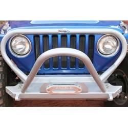 GenRight Jeep TJ/LJ 97-06 Bumper w/ Boulder Series Stinger ( Alum)