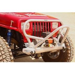 """GenRight Jeep YJ Front Bumper """"Boulder"""" Stinger Steel (Alum)"""