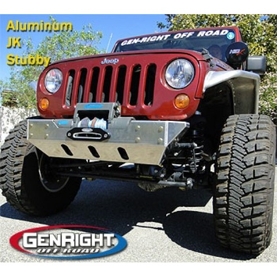 "GenRight Jeep JK 07-Up ""Stubby"" Front Bumper (Steel or Aluminum)"