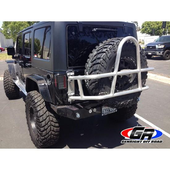 GenRight Jeep JK 07-Up Rear Bumper Carbon Fiber