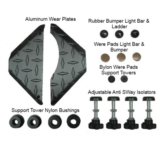 GOBI Jeep JK Roof Rack Replacement Wear Pads and Bushings Kit