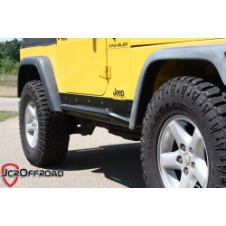 JcrOffroad Jeep TJ, YJ, CJ Deluxe Crusader Sliders