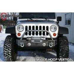 JcrOffroad Jeep JK Crusader Front Stubby Winch Bumper (Half-Sunk)