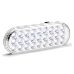 "KC HiLiTES 6"" Oval LED Backup Clear"