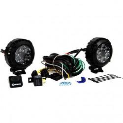 """KC HiLiTES LZR LED 4"""" Round Driving Light Kit"""