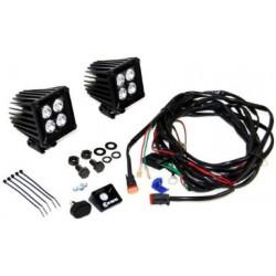"""KC HiLiTES LZR LED 3"""" Cube Series Spot Light Kit"""