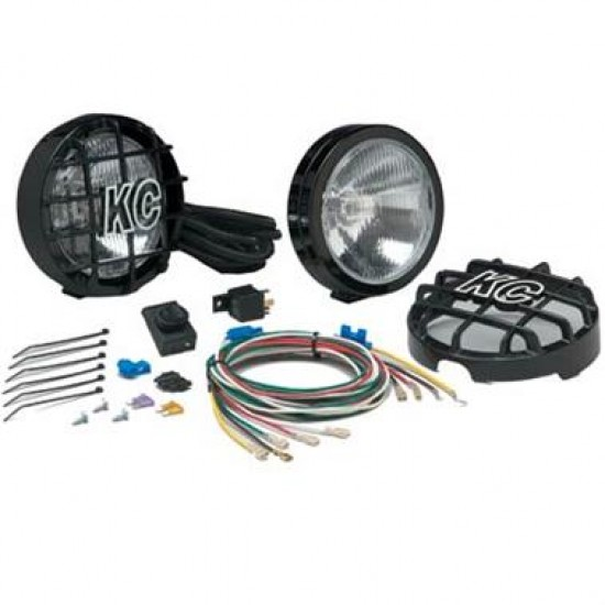 "KC HiLiTES SlimLite 6"" Driving Light Kit Black"