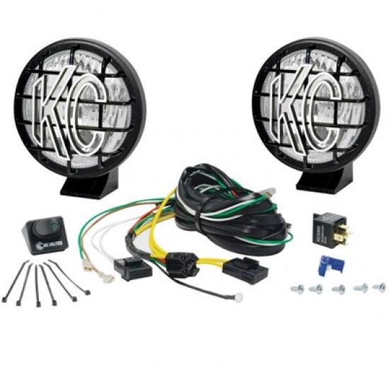 """KC HiLiTES 5"""" Apollo Pro Series Driving Light Kit Black"""