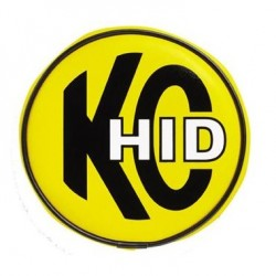 "KC HiLiTES 6"" Soft Vinyl Cover HID Yellow with Black HID Logo"