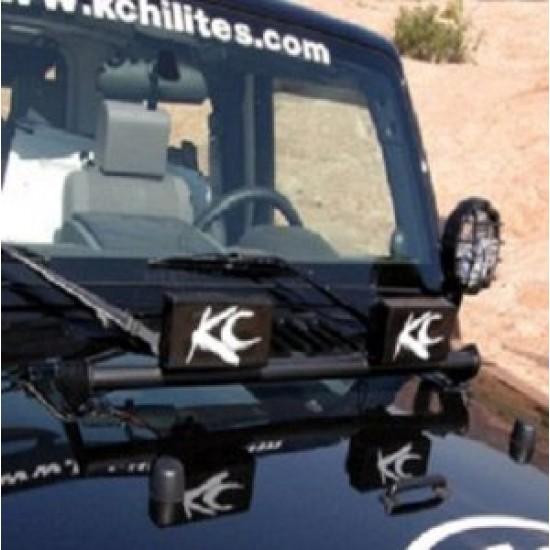 KC HiLiTES Jeep JK 07-14 Hood Mount Light Bar