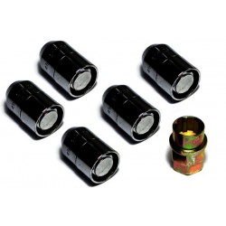 OMIX-ADA Five Piece Wheel Lock Set 1/2 -20 Thread Black