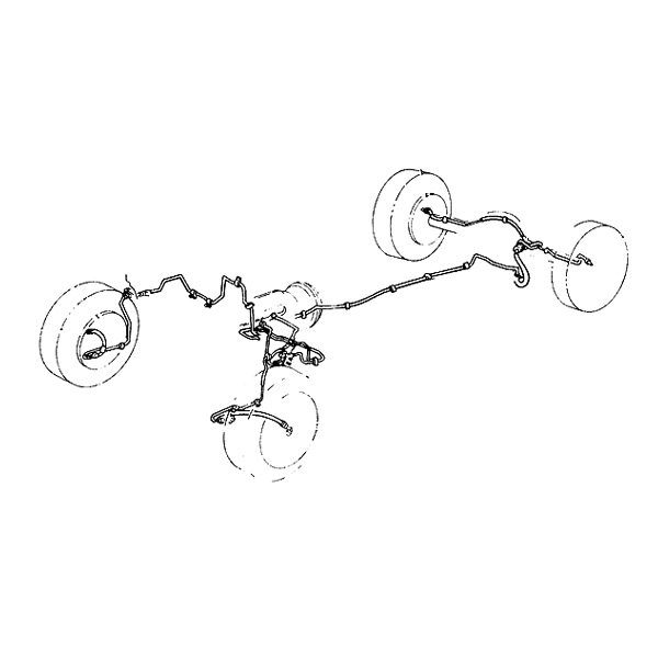 Omix Ada Jeep Wrangler Yj 87 95 Steel Brake Line Kit W Disc