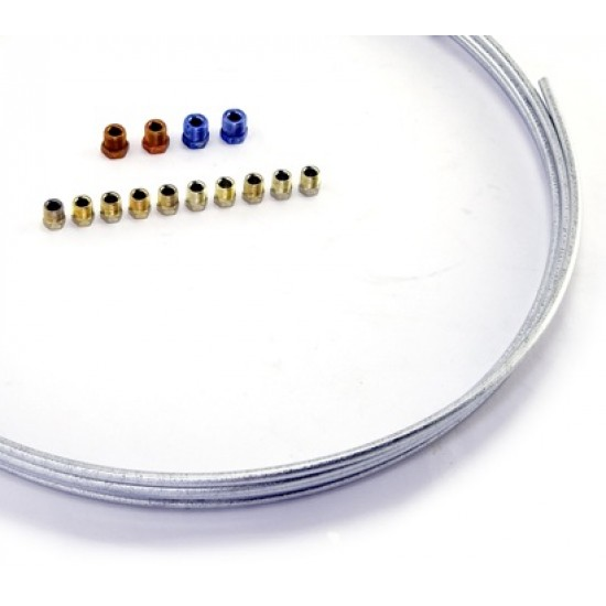"""OMIX-ADA 25Ft Brake Line 3/16"""", 1/4"""", 5/16"""" or 3/8"""" w/ Assorted Nuts"""