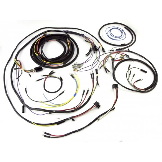 OMIX-ADA Jeep CJ3B 53-56 Wiring Harness (Late Large Sdometer) on