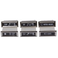 OMIX-ADA Jeep CJ 76-86 Dash Indicator Light Bezel 6 PC Kit