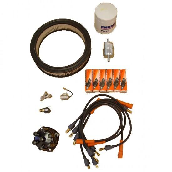 OMIX-ADA Jeep CJ5, CJ6, SJ 72-73 Ignition Tune Up Kit (3.8L, 4.2L)