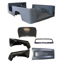 OMIX-ADA Jeep CJ5 72-75 Steel Body Tub Kit