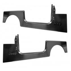 """OMIX-ADA Jeep CJ7, YJ 87-95 Side (Quarter) Panels w/ """"Jeep"""" Script"""