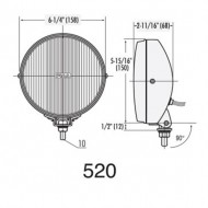 PIAA 520 Chrome Ion Yellow Driving Halogen Lamp Kit