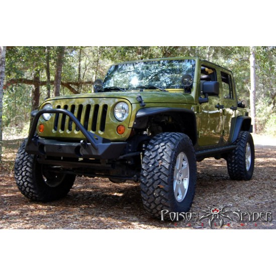 Poison Spyder JK 07-Up Brawler Lite Front Bumper with Brawler Bar