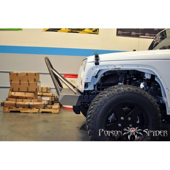 Poison Spyder JK 07-Up Brawler Lite Front Bumper with Trail Stinger