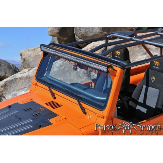 """Poison Spyder TJ/LJ 97-06 Light Bar Mounts for Rigid 50"""" LED"""