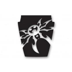 Poison Spyder YJ Mountain Spyder Hood Decal (White, Silver or Black)