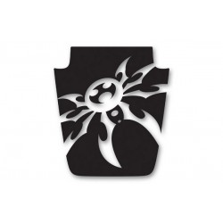 Poison Spyder TJ/LJ Mountain Spyder Hood Decal (White Silver or Black)