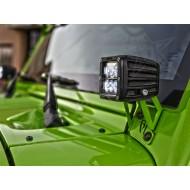 Rigid Industries Jeep JK A-Pillar Mounting Brackets for D-Series Gen 2