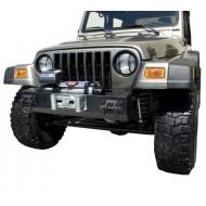 Rugged Ridge Jeep TJ/LJ, YJ, CJ XHD Front Bumper Base w/ Winch Mount