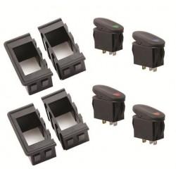Rugged Ridge Rocker Switch Housing Kit w/ 4 Switches