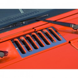 Rugged Ridge Jeep Wrangler JK 07-Up Hood Vent Covers (Stainless)