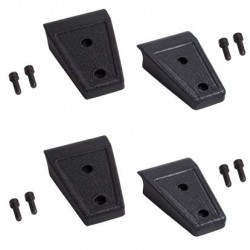Rugged Ridge Jeep JK 07-Up Door Hinge Cover Set of 8 (Black)