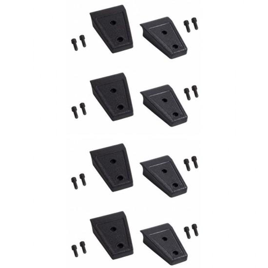 Rugged Ridge Jeep JK 07-Up Door Hinge Cover Set of 8 (Black)