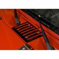 Rugged Ridge Jeep Wrangler JK 07-Up Hood Vent Covers Black