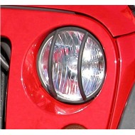 Rugged Ridge Jeep JK 07-Up Euro Guard Headlight (Black or Stainless)