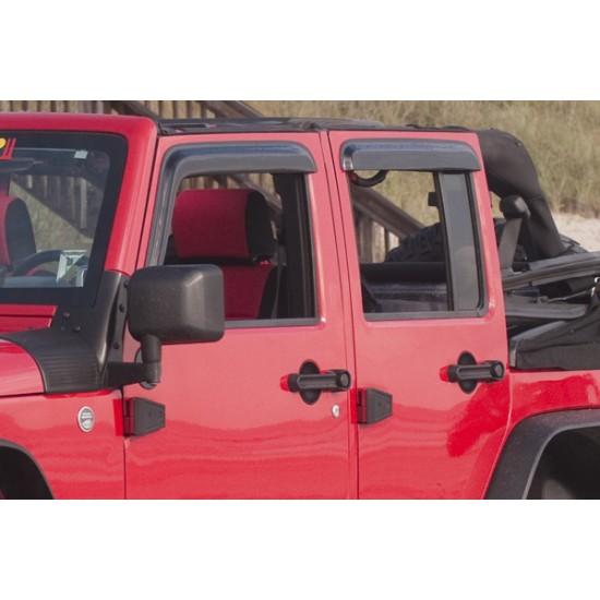 Rugged Ridge Jeep Wrangler JK 07-Up 4DR Window Rain Deflectors