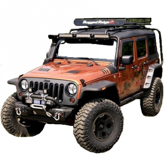 Rugged Ridge Jeep Wrangler JK 07-Up Hurricane Flat Fender Flare Kit (Textured)